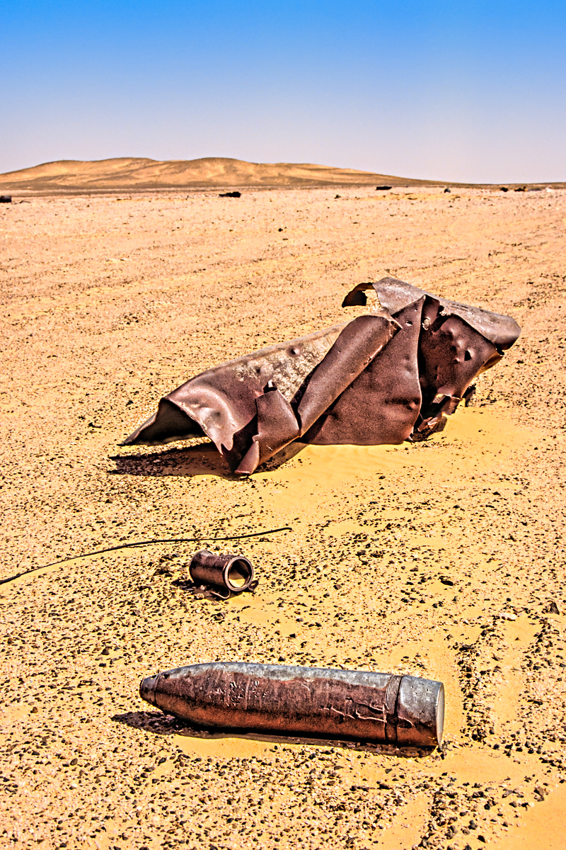 WWII Shell in Libyan Desert