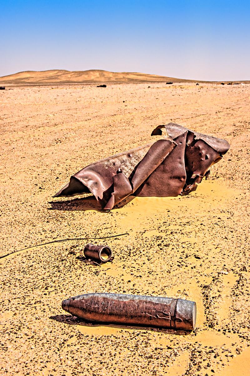 WWII Shell in Libyan Desert