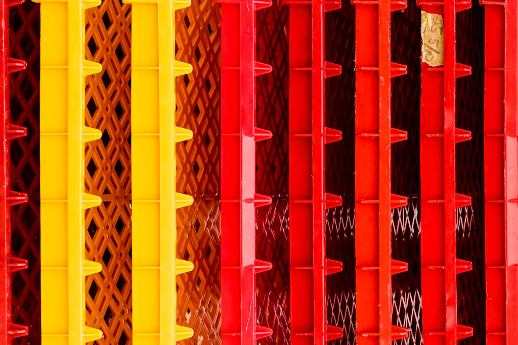 Red and Yellow Crates